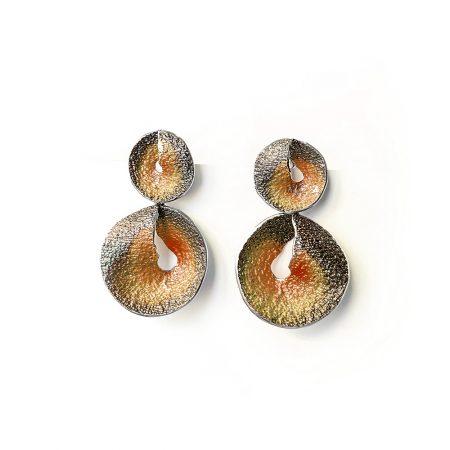 Pendientes de plata de dos piezas oro rosa Sima Orfega