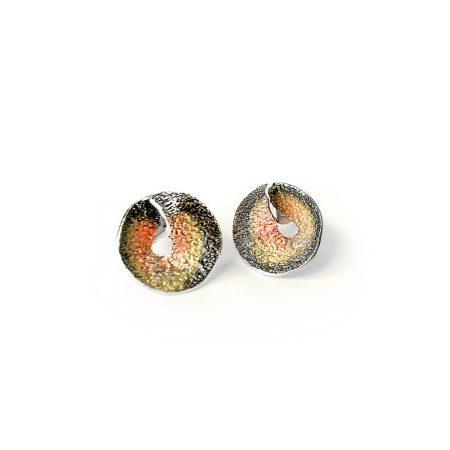 Pendientes de plata con tuerca oro rosa Sima Orfega