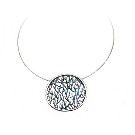 colgante de plata Orfega colección Ramas pequeño azul