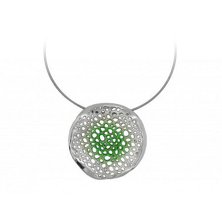 Colgante de plata Orfega colección Micro grande Verde