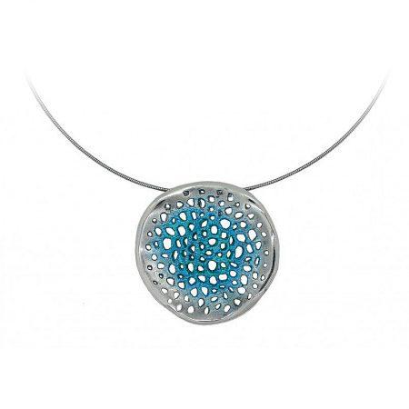 Colgante de plata Orfega colección Micro pequeño Azul