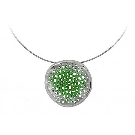 Colgante de plata Orfega colección Micro pequeño Verde