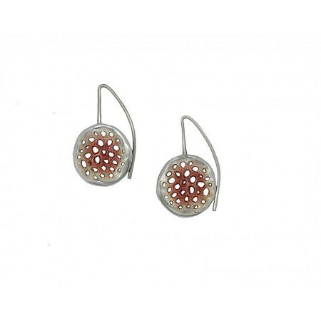 Pendientes de plata Orfega colección Micro con gancho mediano Oro rosa
