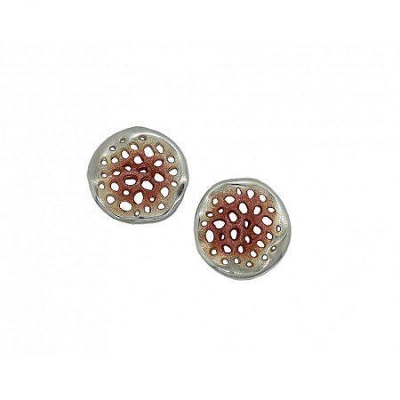 Pendientes de plata Orfega colección Micro mediano Oro rosa