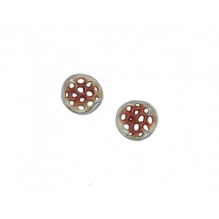 Pendientes de plata Orfega colección Micro pequeño Oro rosa