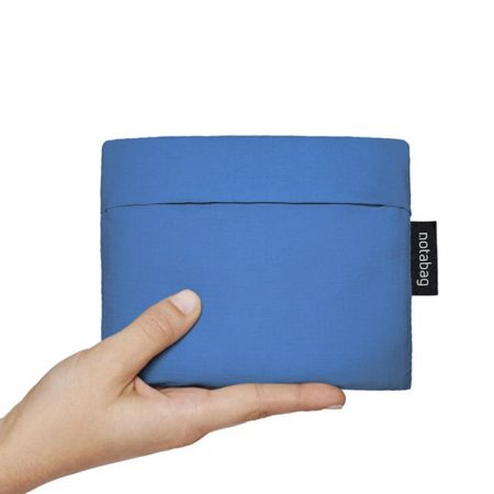Bolsa-mochila plegable Azul pocket
