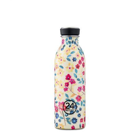 Botella ultraligera 24 bottles de acero inoxidable edición especial flores amarillas y rojas