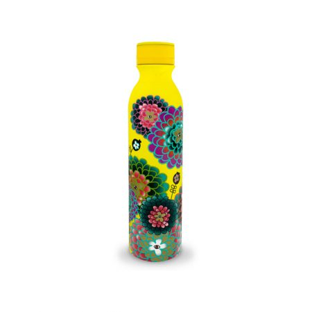 Botella termo keep cool 75cl de Pylones Dahlia amarilla