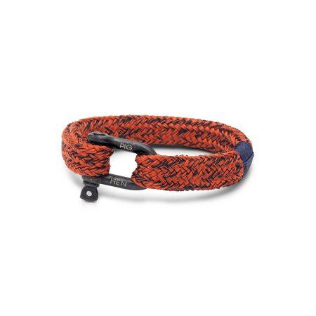 pulsera hombre pig and hen Gorgeous George con correa Rojo coral y azul marino con cierre de gancho negro