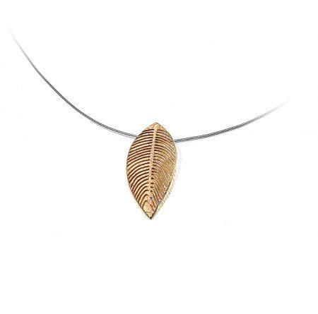 Colgante de la colección Fosil grande de plata y pigmentos de oro Grande diseñado por Orfega