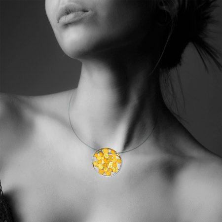 orfega colante en plata y tonos dorados Sisma