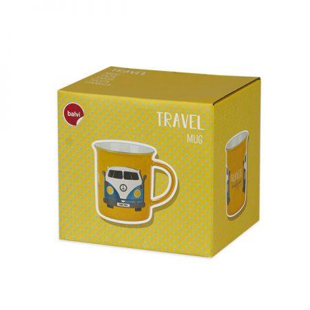 "Taza cerámica Vintage ""Travel"" caja"