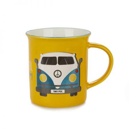 "Taza cerámica Vintage ""Travel"""