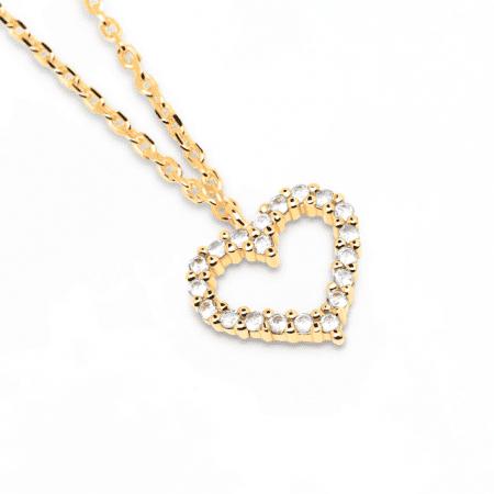 Collar Heart Blanco de Oro 18k P de Paola