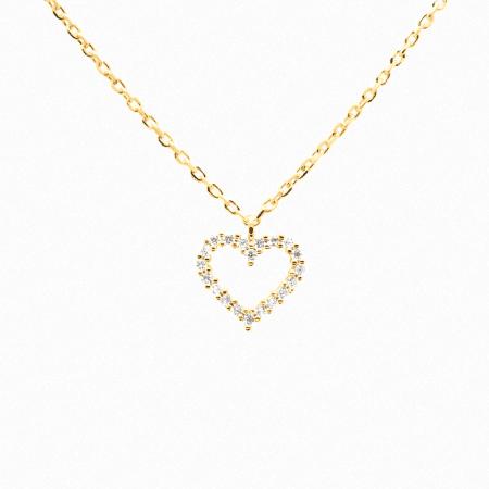 Collar Heart blanco de Oro 18k P de Paola original
