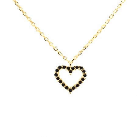 Collar Heart negro de Oro 18k P de Paola original