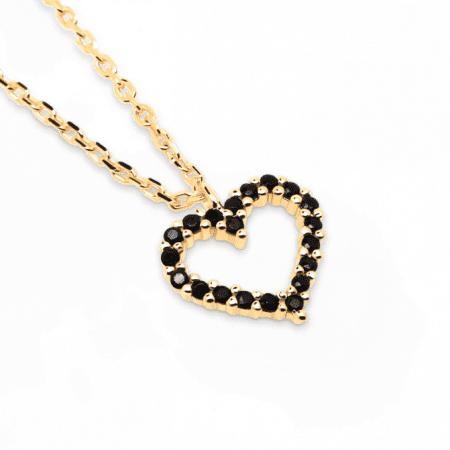 Collar Heart Negro de Oro 18k P de Paola