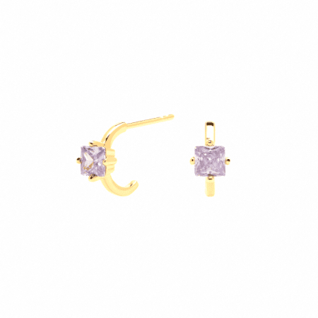 Pendientes Lavender Lis bañados en Oro 18k P d Paola
