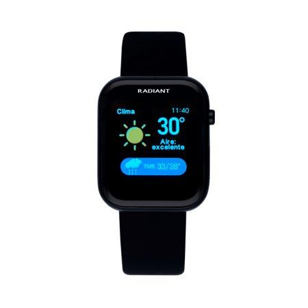 reloj smart watch Manhattan radiant pulsera actividad negro