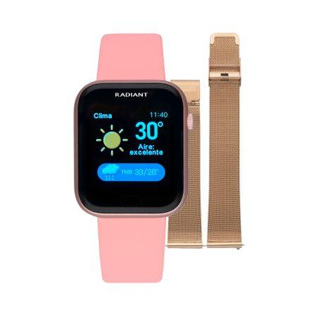 reloj smart watch manhattan radiant pulsera actividad blanco