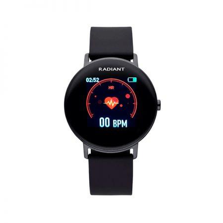 reloj smart watch wall street radiant pulsera actividad negro