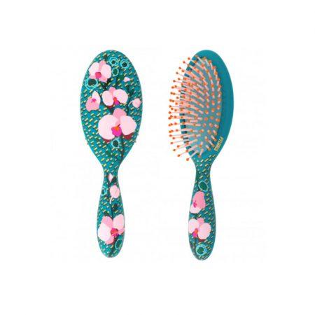 Cepillo pequeño original estampado LADYPOP DE Pylones Orquídea turquesa