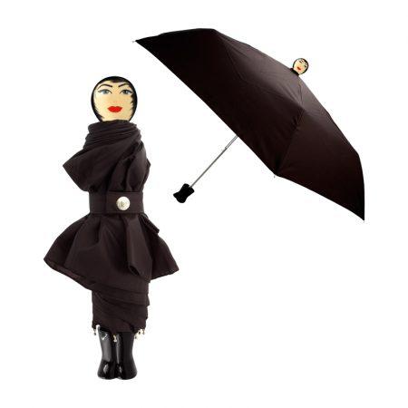 paraguas original chica Rain Parade negro Pylones
