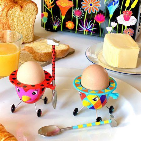 porta huevo cocido original Cocotte lunares arlequin Pylones