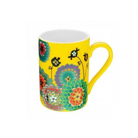 Taza mug Original estampados Pylones Dahlia amarilla