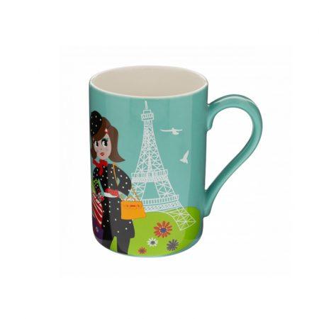 Taza mug Original estampados Pylones Chica en Paris