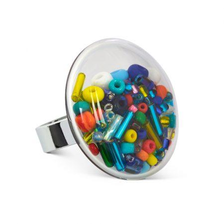 anillo Galet medium bolas bolitas multicolor Pylones