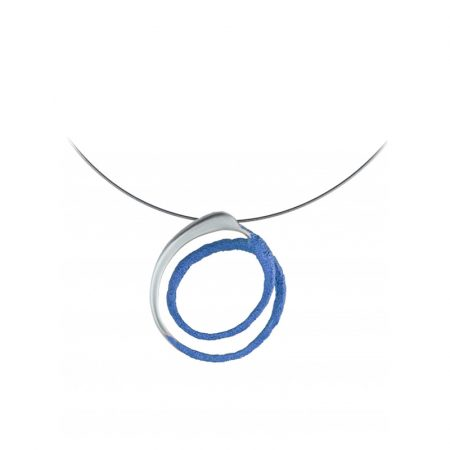 colgante plata Orfega mediano azul Oba
