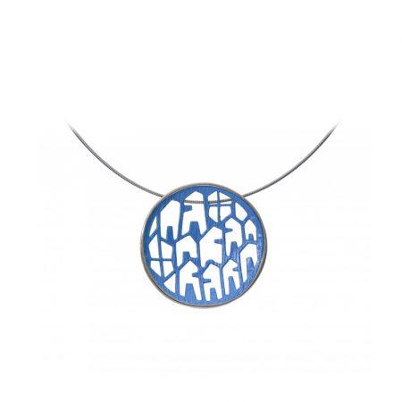 colgante plata Orfega pequeno azul Jordan