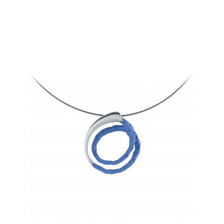 colgante plata Orfega pequeno azul Oba