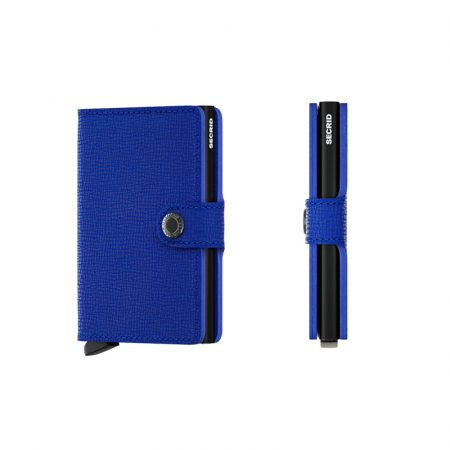 Cartera SECRID Miniwallet CRISPLE automática anticopia Azul Negro