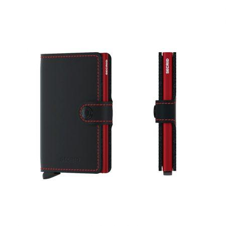 Cartera SECRID Miniwallet MATTE automática anticopia Negro Rojo