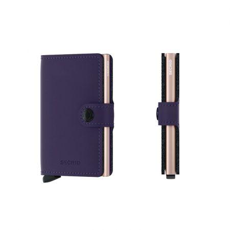 Cartera SECRID Miniwallet MATTE automática anticopia Rosa Purpura