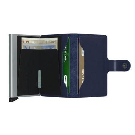 Cartera SECRID Miniwallet ORIGINAL automatica anticopia Navy abierta
