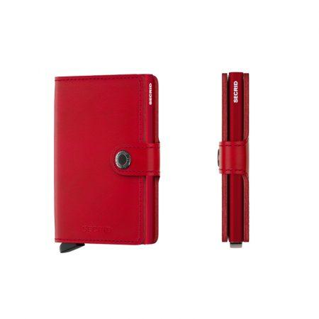 Cartera SECRID Miniwallet ORIGINAL automática anticopia Rojo vivo