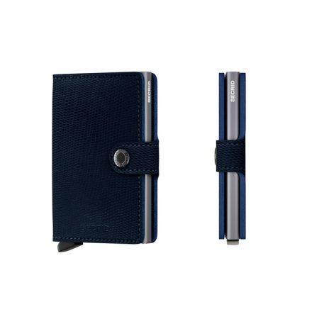 Cartera SECRID Miniwallet RANGO automática anticopia Azul Titanio