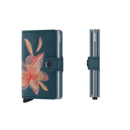 Cartera SECRID Miniwallet STITCH automática anticopia Azul Petroleo Magnolia