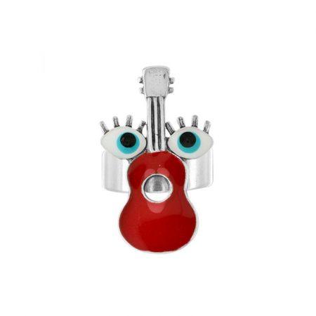 Anillo Jam plateado rojo Taratata 1
